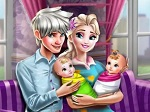 Play Ice Queen Twins Family Day free