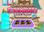 Play Chocolate Strawberry Cream Puffs free