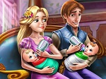 Play Rapunzel Twins Family Day free