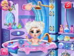 Game Ice Queen Baby Bath