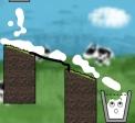Game Happy Milk Glass
