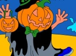 Play Jack-O-Lantern Halloween Coloring Game free