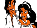 Play Paint Aladdin and Jasmine free