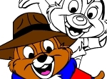 Play Rescue Rangers Colouring Page free