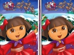 Play Christmas Dora: spot 6 differences free