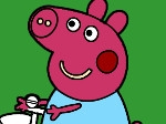 Play Piggy on Bike Coloring free