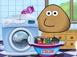 Game Pou Washing Clothes