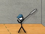Game Stick Figure Badminton